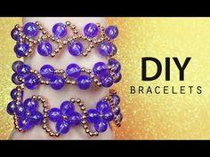 DIY: Top 3 EASY beaded bracelets / Бисероплетение для начинающих (детей) простые браслеты - YouTube Free Beading Tutorials, Making Bracelets With Beads, Beaded Bracelets Tutorial, Diy Tops, Easy Youtube, Beaded Jewelry Patterns, Bijoux Diy, Bead Weaving, Jewelry Crafts
