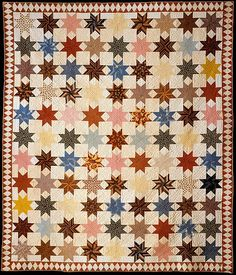 Star of Lemoyne Quilt Maker: Rebecca Davis Date: ca. 1846 Geography: United States Culture: American Medium: Cotton Dimensions: 80 x 94 in. (203.2 x 238.8 cm) Classification: Textiles Credit Line: Gift of Mrs. Andrew Galbraith Carey, 1980
