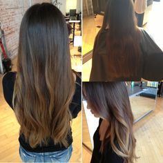 Balayage highlights. I love the height they start in!