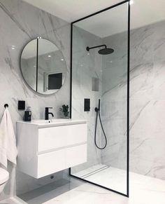 40 of The Best Modern & Functional Bathroom Design Ideas bathroomdecor bathroomdesign bathroomideas. Modern Bathroom Design, Bathroom Interior Design, Modern Design, Design Loft, House Design, Room Decor Bedroom, Diy Room Decor, Home Decor, Small Bathroom