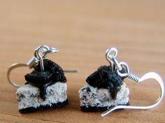 Food Jewelry OREO Cheesecake Miniature Food Earrings Mini Sweets