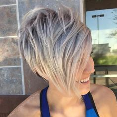 Ash Blonde Pixie With Bangs