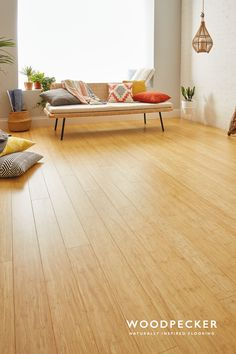Love the light and spacious feel of this natural bamboo floor. Get a free sample at our website.