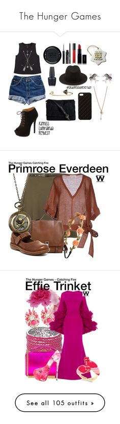 """""""The Hunger Games"""" by caitikat441 ❤ liked on Polyvore featuring Billabong, Charlotte Russe, Inglot, OPI, MAKE UP FOR EVER, M.A.C, Jules Smith, Forever 21, Colette Jewelry and MAC Cosmetics"""