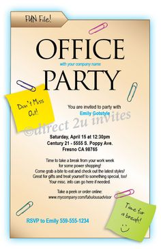 Office Party Invitation Templates business meeting Vector Business