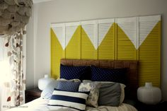 Closet door mural art headboard