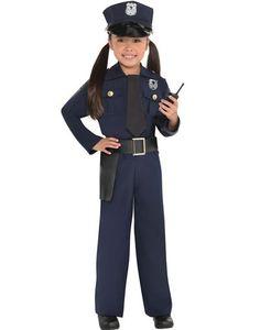 POLICE Ladies T-Shirt 8-16 Black Funny Printed Fancy Dress Costume Joke Top