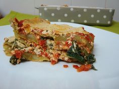 Lasanha de tofu e espinafres