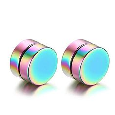 * Penny Deals * - SumBonum Jewelry Womens Mens High Polished Stainless Steel Simple Magnetic Stud Earrings Set, Colorful *** Check this awesome product by going to the link at the image.