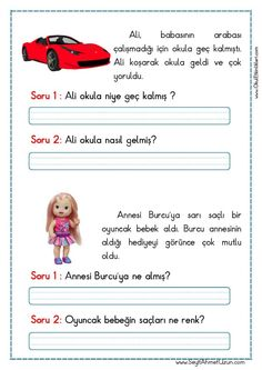 This Pin was discovered by Nej Games For Kids, Activities For Kids, Learn Turkish, Turkish Language, Kindergarten, Reading Passages, Eminem, Grade 1, Kids Learning