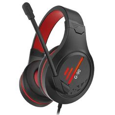 G90 Gaming Headsets - black-red