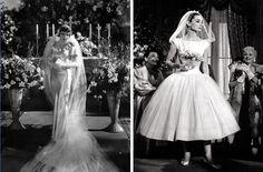 Claudette Colbert and Audrey Hepburn as brides.