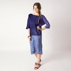 Dark blue dress taureg indigo navy blue dress boho by Baymut