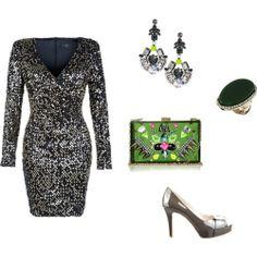 Dress New Look Shoes Nine West Bag TopShop Ring, earring  Asos.com