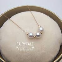 18K Rose Gold Japanese Akoya Pearl Necklace 6.5-7mm