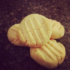 coconut flour shortbread Cookies- 3 Tbsp coconut flour, 2 Tbsp organic butter OR coconut oil
