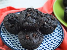 Double Chocolate Peanut Butter Muffins with Vegetables
