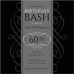 CoolNew Create Easy 60th Birthday Invitation Free Ideas Check more at http://www.nataliesinvitation.com/9627/create-easy-60th-birthday-invitation-free-ideas/