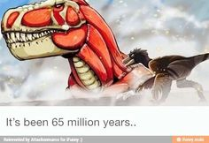 Attack on t-rex