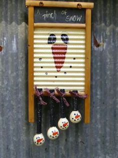 Snowman Washboard... Too stinking cute!!!