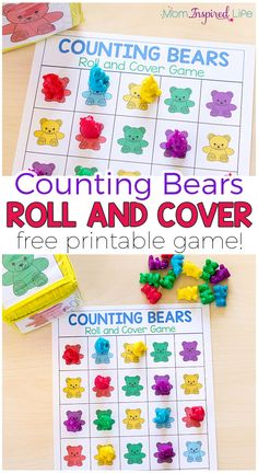 Your kids will love this fun counting bears roll and cover math game! There are several ways to play and a variety of math skills covered while playing!