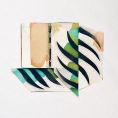 eva magill oliver blooming sketchbooks pop-up collages