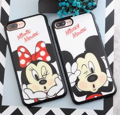 Mickey and Minnie Mouse iPhone 7 Soft TPU Silicone Case