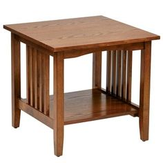 Shop for Sierra Mission End Medium Oak Table . Get free shipping at Overstock.com - Your Online Furniture Outlet Store! Get 5% in rewards with Club O! - 16252158