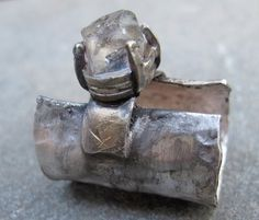 contraband ring with herkimer diamond in by esmeraldadesigns, $140.00