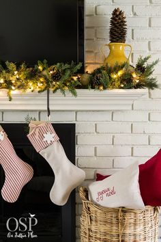 On Sutton Place blog post DIY Christmas Mantel Decor Ideas http://www.onsuttonplace.com/2014/11/diy-christmas-mantel-decor-ideas/ via bHome https://bhome.us
