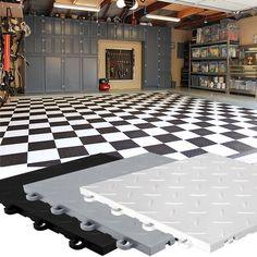 Garage Floor Tiles - Combo - (garage flooring)