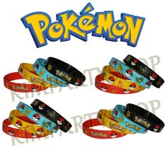 Pokemon Go Silicone Bracelets Featuring Pikachu Squirtle Charmander Wristbands ~ Party Favors, Stocking Stuffers, Goody Bag Fillers, Gifts by Kimpartyshop on Etsy https://www.etsy.com/listing/459996210/pokemon-go-silicone-bracelets-featuring
