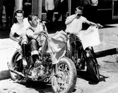 The first 'bikers'.   1947.
