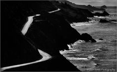 Don Smith Photography   -  Black & White ~   California Dreaming, Highway 1, Big Sur Coast