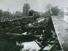 indian lake, ohio water | This 1850s photo shows progress made on the spillway. View is from the ...