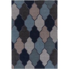 Pollack Morgan Navy (Blue) 7 ft. 6 in. x 9 ft. 6 in. Indoor Area Rug