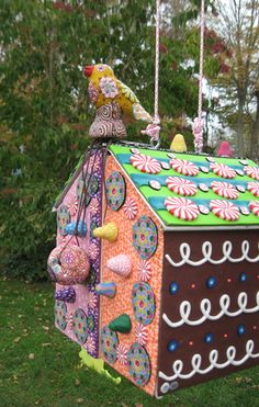 Billie Beads - 10.26.11.hansel and gretel house made of clay.