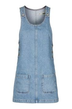MOTO Scoop Neck Denim Pini