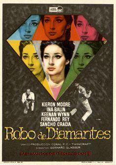 151.  MAC. Robo de diamantes. Dirigida por Bernard Glasser. Barcelona: Gráficas Bobes, 1967. #ProgramasdeMano #BbtkULL #Diseñadores #MAC#DiadelLibro2014