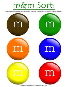 Letter M activities w/ M's.lots of M ideas from confessions of a homeschooler Preschool Letter M, Letter M Crafts, Letter M Activities, Sorting Activities, Color Activities, Kindergarten Math, Preschool Activities, Number Activities, Preschool Rules