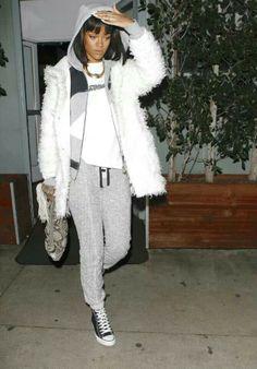 Rihanna sporty style