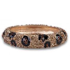 Jewelry Galore - Thin Leopard Print Bracelet - $47 #jewelry #fashion #leopard #women