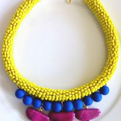 """""""Cocktail Jewels """" Roman Candle Necklace"""