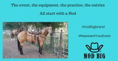 It all starts with a Nod.  #nodbig #nodbigbrand #RepresentYourEvent #beyourbest #ranchtorodeo #bothendsofthearena #countrylife #cowboylife #barbedwiretobarrier