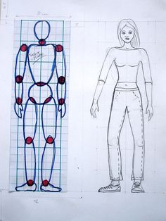 Drawing People right proportions - Analysing the human figure with the students of the 8 we have understood how to draw a human body with the right proportions. Helping with a grid with squares we invented a character according to t… Male Figure Drawing, Basic Drawing, Figure Drawing Reference, Body Drawing, Drawing Lessons, Drawing Techniques, Drawing For Kids, Art Lessons, Figure Drawings