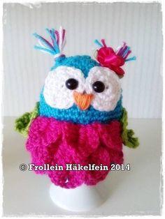 Häkelanleitungen - Häkelanleitung Eierwärmer Eule - PDF Datei - ein Designerstück von crochet-with-love bei DaWanda