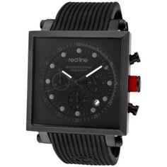 Relógio Red Line Men's RL-50036-BLK Compressor 2 Chronograph Black Dial Black Silicone Watch #Relógio #Red Line