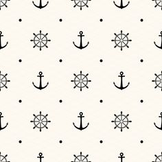 10 Anchor monochrome patterns by Svetolk on Creative Market
