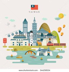 stock-vector-lovely-taiwan-travel-map-design-in-flat-style-344258534.jpg (450×470)