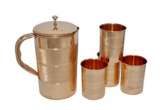 Copper Jug with 6 Glasses | IKH101055S60203 | $39.99